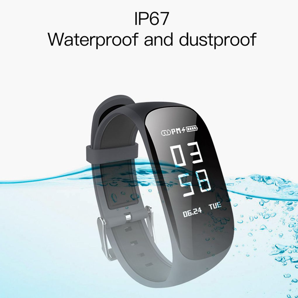 Waterproof Fitness Tracker Smart Wristband Bluetooth OLED Display with Heart Rate Sleep Monitor Pedometer Calorie Counter Sport Watch