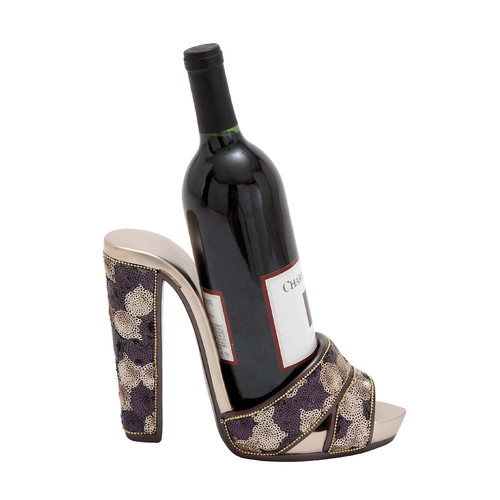 Woodland Imports 1 Bottle Tabletop Shoe Wine Holder