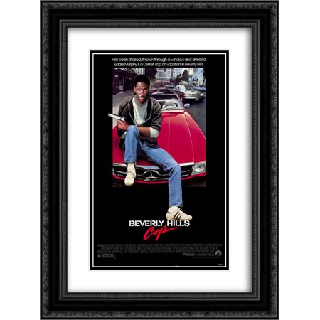 Beverly Hills Cop 20X24 Double Matted Black Ornate Framed Movie Poster Art Print