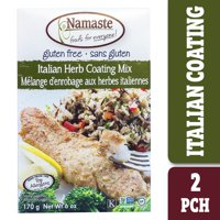Namaste Foods Gluten Free Italian Herb Seasoned Coating Mix, 6 oz Box