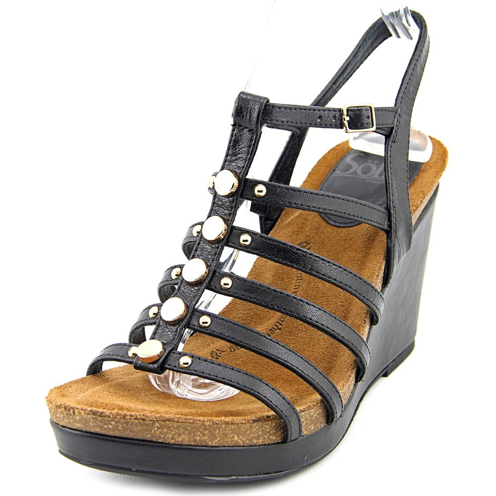 Sofft Cassie Open Toe Leather Wedge Sandal by Sofft