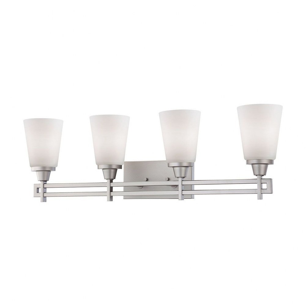 4 Up Light Vanity Light With Matte Nickel Finish Bathroom Lighting Height 10 51 Inches And Walmart Com Walmart Com