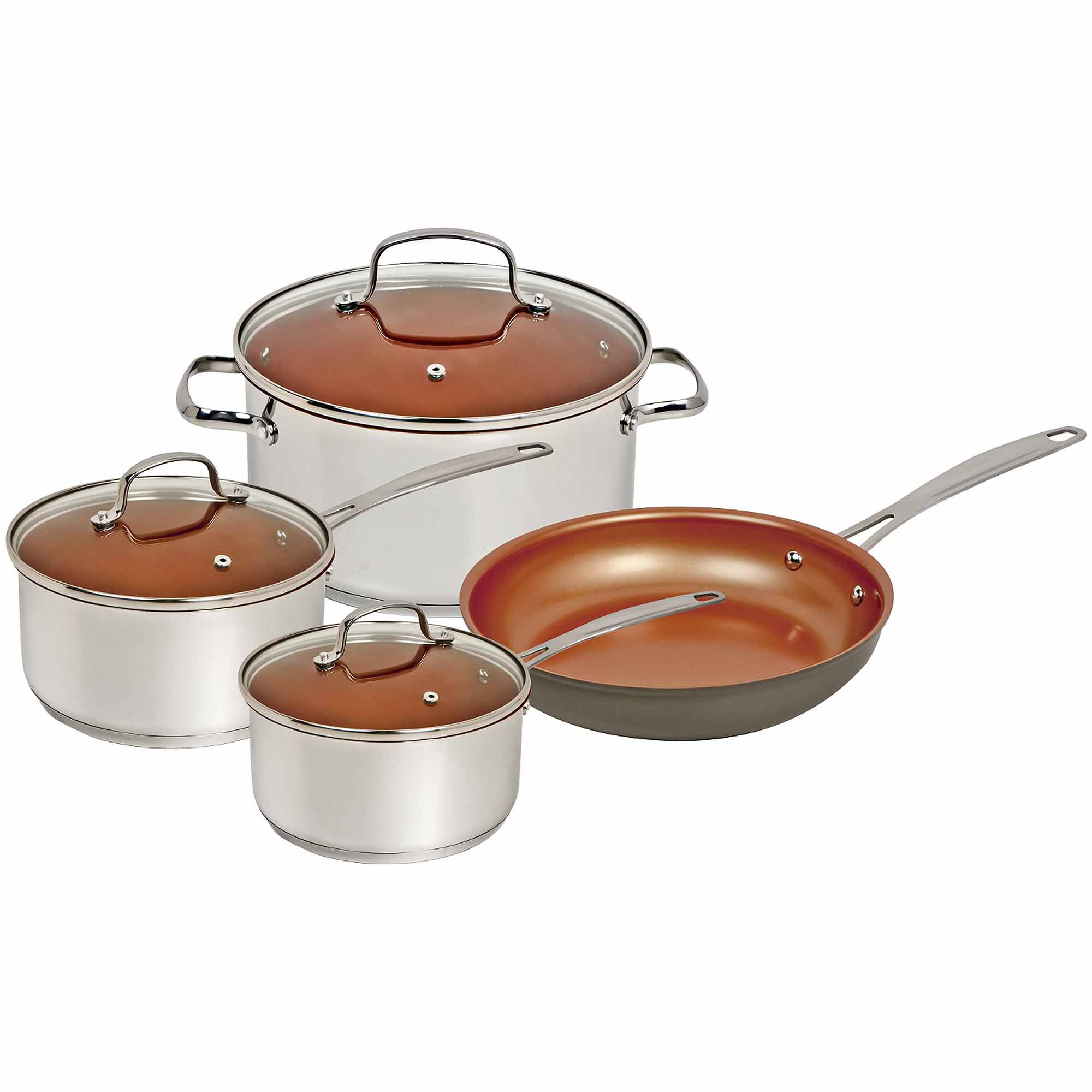 nuwave 7-piece cookware set, silver - walmart