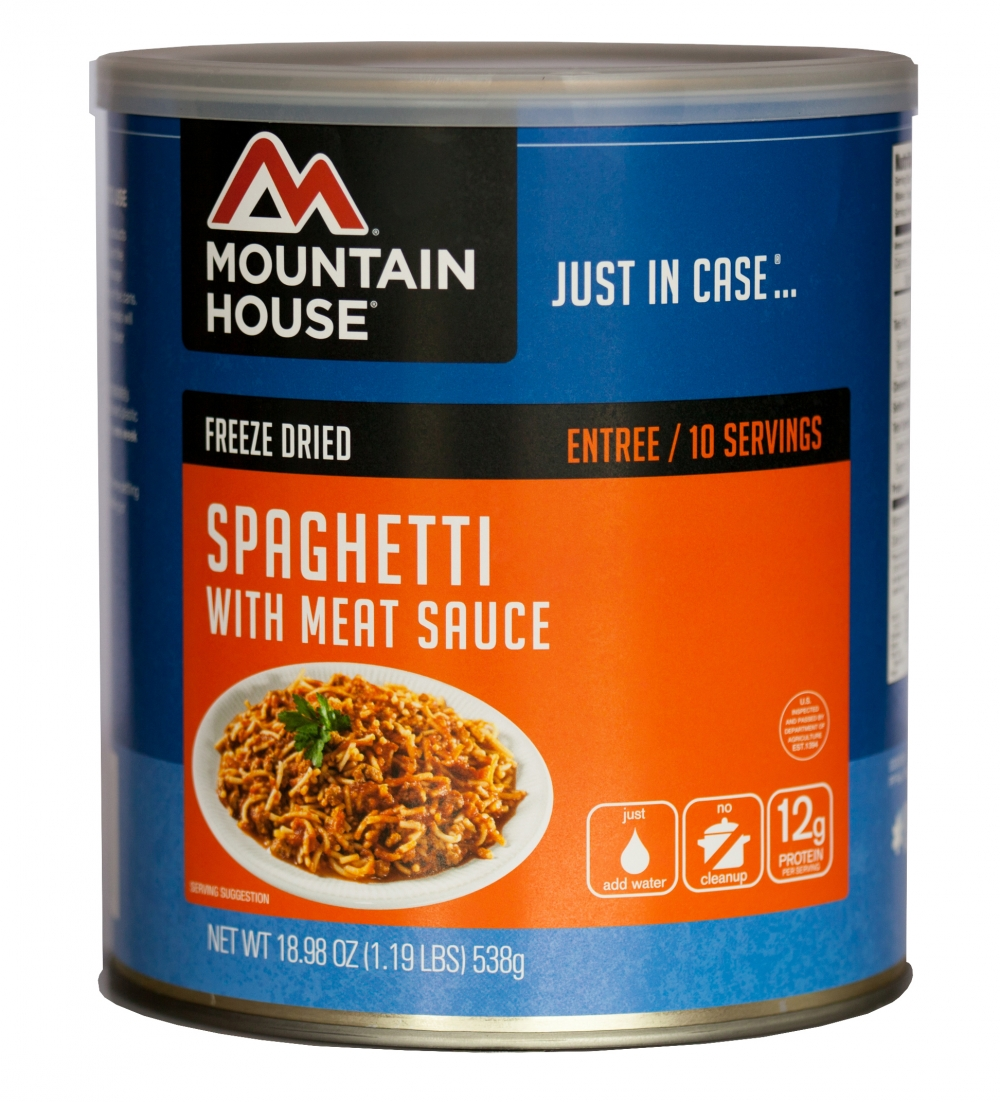 Mountain House (6 Pack) Spaghetti with Meat Sauce Main Entree #10 Can by Mountain House