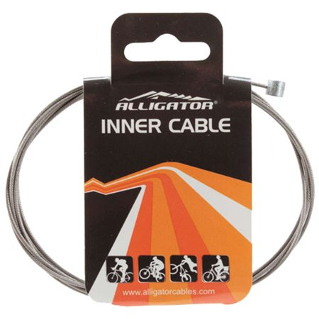 Alligator Bicycle Brake Inner Cable - Stainless Steel, Slick PTFE, 1.6 X 1700mm - LY-BSTPT17UB-M