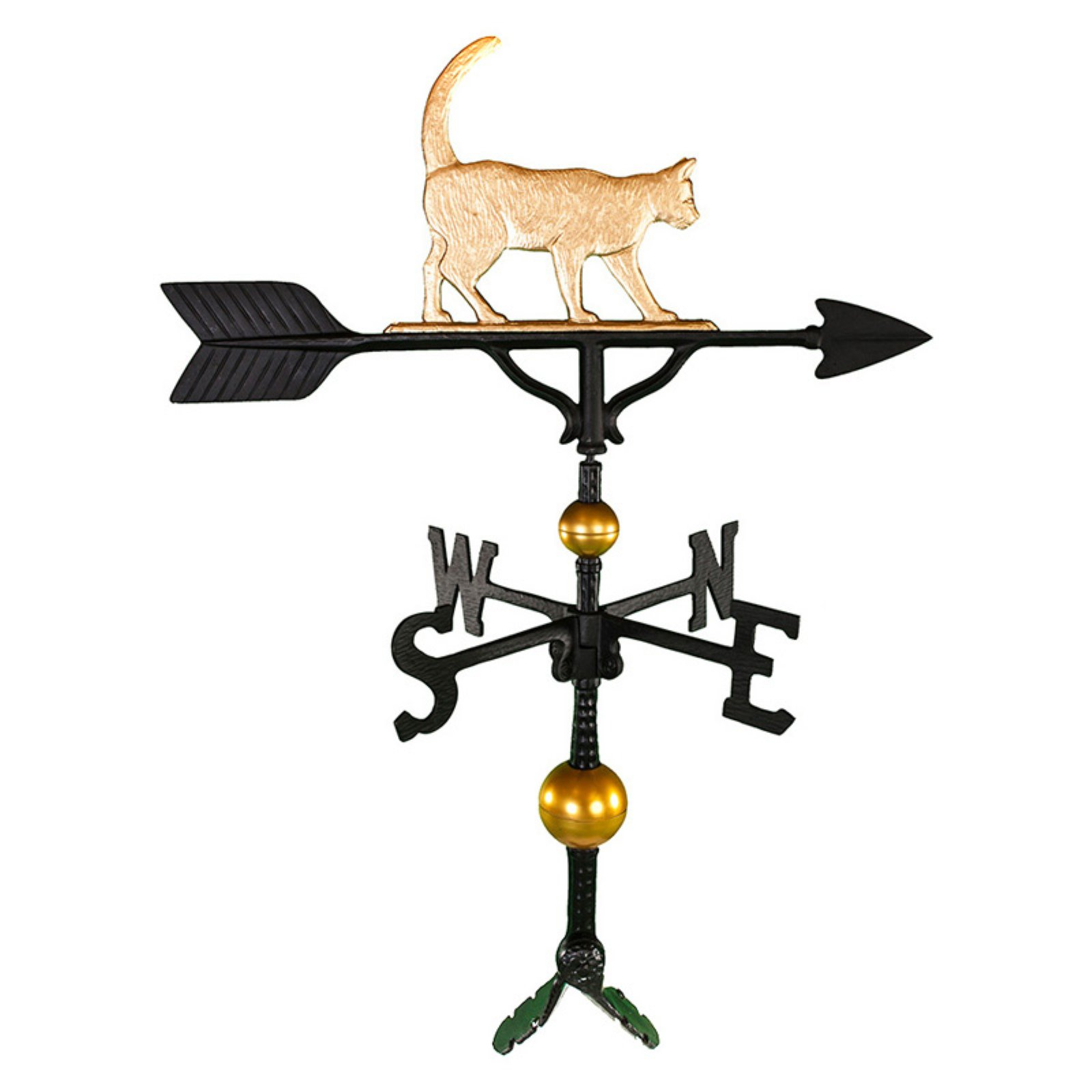 Deluxe Gold Cat Weathervane 32 in. by Montague Metal Products