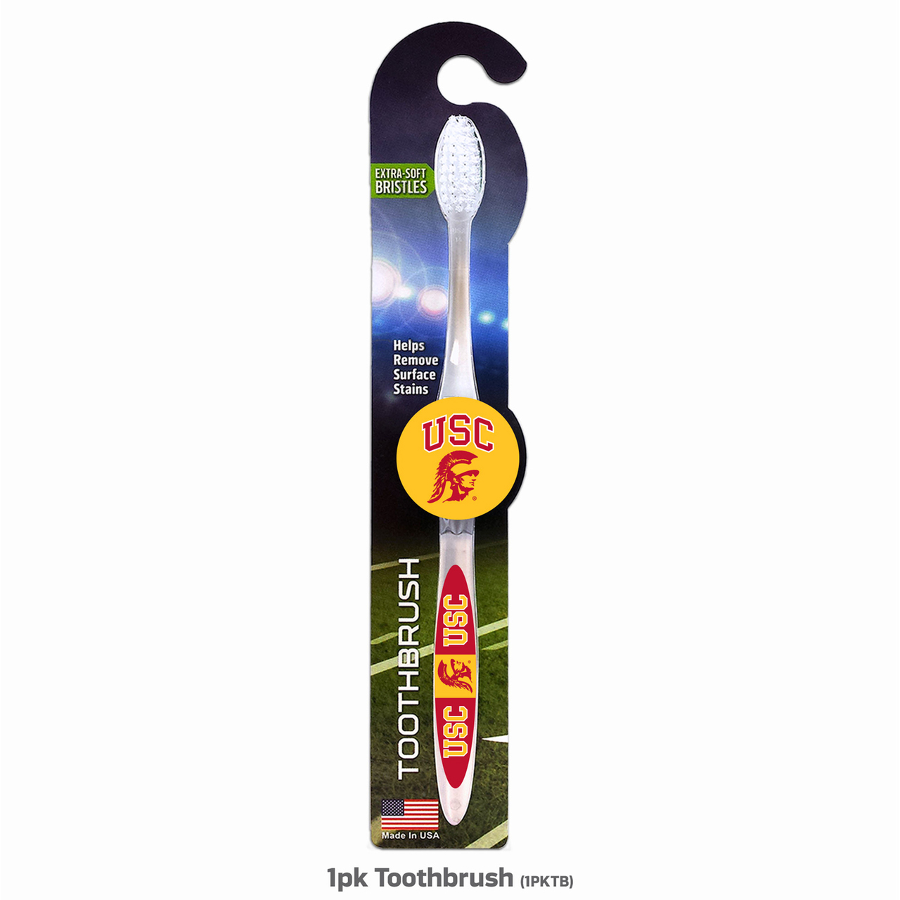 USC Trojans NCAA 1 Pack Toothbrush - White