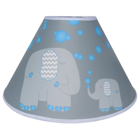 Blue Elephant Lamp Shade / Jungle Safari Elephant Nursery Decor (Blue Bubble Elephant Lamp Shade)](Elephant Nursery Decor)