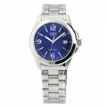 295212b3b Casio - 30 Meter Water Resistant Stainless Steel 3-Hand Analog Watch with  Date MTP1215A-2A - Walmart.com