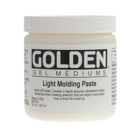 Golden Light Molding Paste - Golden Artist Colors 8 Oz Light Molding Paste