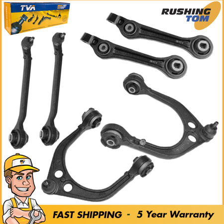 New 6 Pc Set Front Upper And Lower Control Arm Kit With 5 Year Warranty