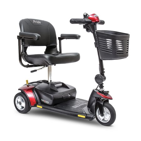 - Pride Go-Go Elite Traveler 3 wheel scooter with 12AH batteries