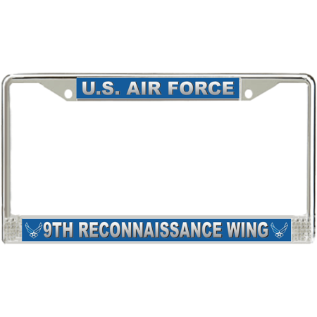 U.S. Air Force 9th Reconnaissance Wing License Plate Frame