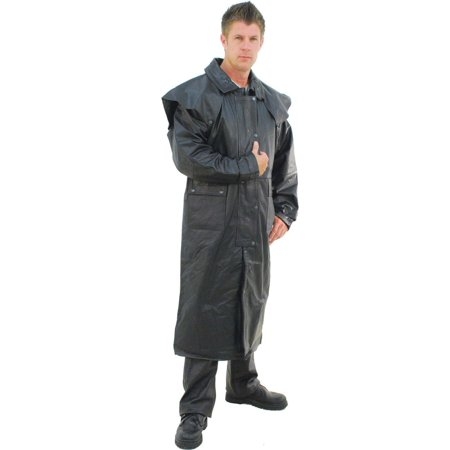 Heavy Leather Duster Trench Coat #M800Z (Mens Duster Coat)
