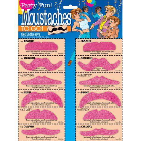 Moustaches - Hot Pink Assortment