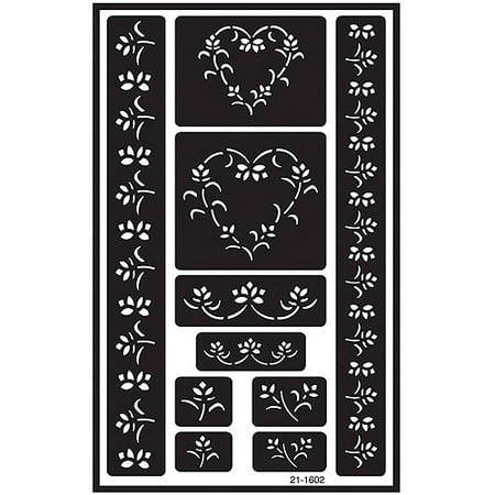Over 'n' Over Reusable Glass Etch Stencils, 5