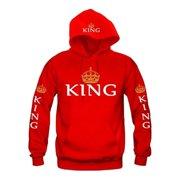 Women Pullovers King Queen Printed Hoodies Men Sweatshirt Lovers Couples Hooded Hoodies Sweatshirt