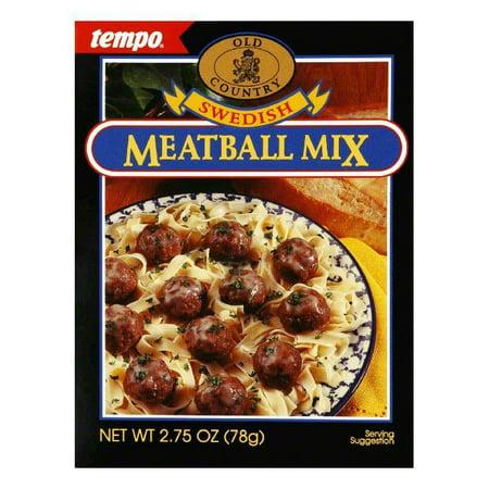 Swedish Meatball Mix - Tempo Swedish Meat Ball Mix, 2.75 OZ (Pack of 12)