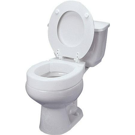 Hinged Elevated Toilet Seat ()