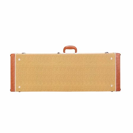 Deluxe Hardshell - Deluxe Electric Guitar Hard Shell Case Portable Square Guitar Case Microgroove Flat With Extra Neck & Bridge Padding