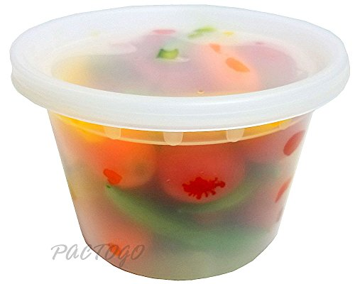 50 Pack 16 oz Heavy Duty Deli Food//Soup Plastic Containers w// Lids and Airtight