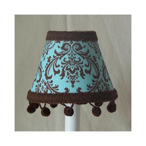 Silly Bear Lighting Chocolate Damask Table Lamp Shade