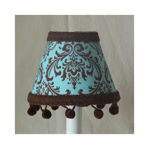 Silly Bear Lighting Chocolate Damask Table Lamp Shade