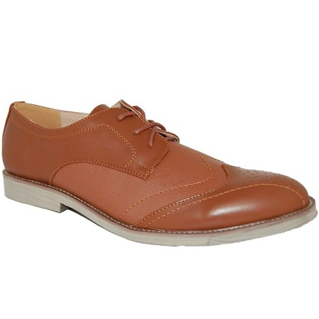 American Shoe Factory Billy Brown Wingtip Leather Lined Upper Lace Up,