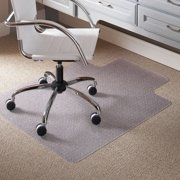 Carpet Chair Mats for Low Pile, 45-Inch by 53-Inch with Lip, Clear Vinyl, GREENGUARD Indoor Air Quality Certified By Visit the ES Robbins Store