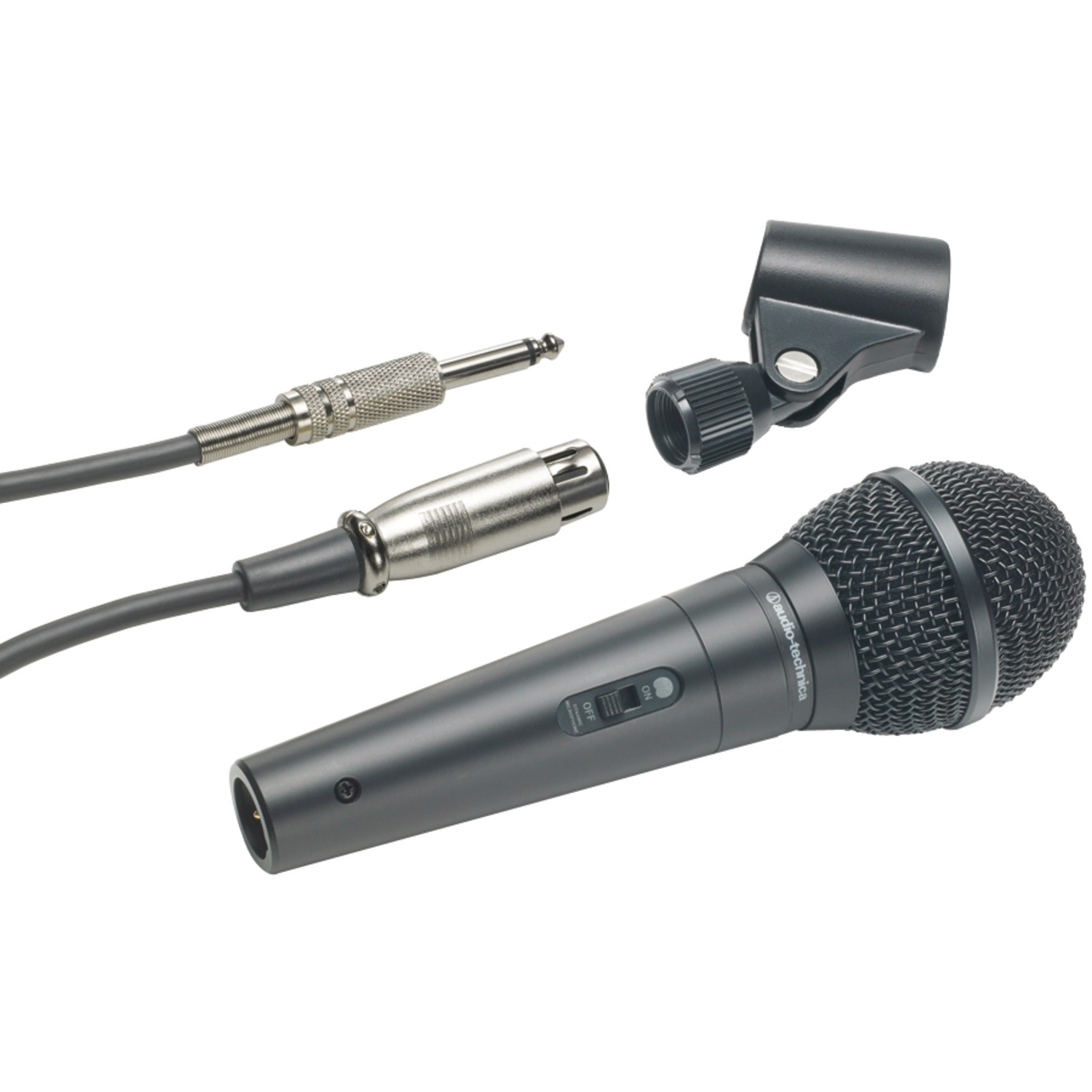 Audio-Technica ATR-1300 ATR Series Dynamic Vocal/Instrument Microphone (Unidirectional, ATR1300)