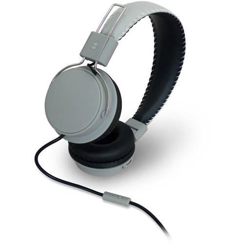 MQbix MQHT570 Earfoam Layers High-Performance Headphones with Mic - Black/Red