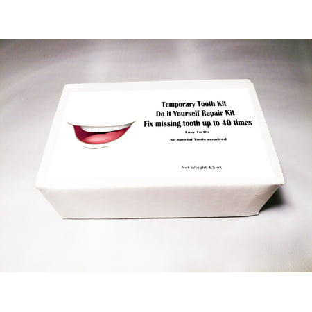 Temporary Tooth Kit  Do it Yourself Repair Kit Dental Fix Missing up to 40