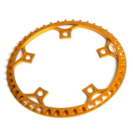 Bike Bicycle Chainring Folding Bike Single Crank Ring Round Chain Ring BCD 130MM 5 Bolts Chainring 53T / 45T ()