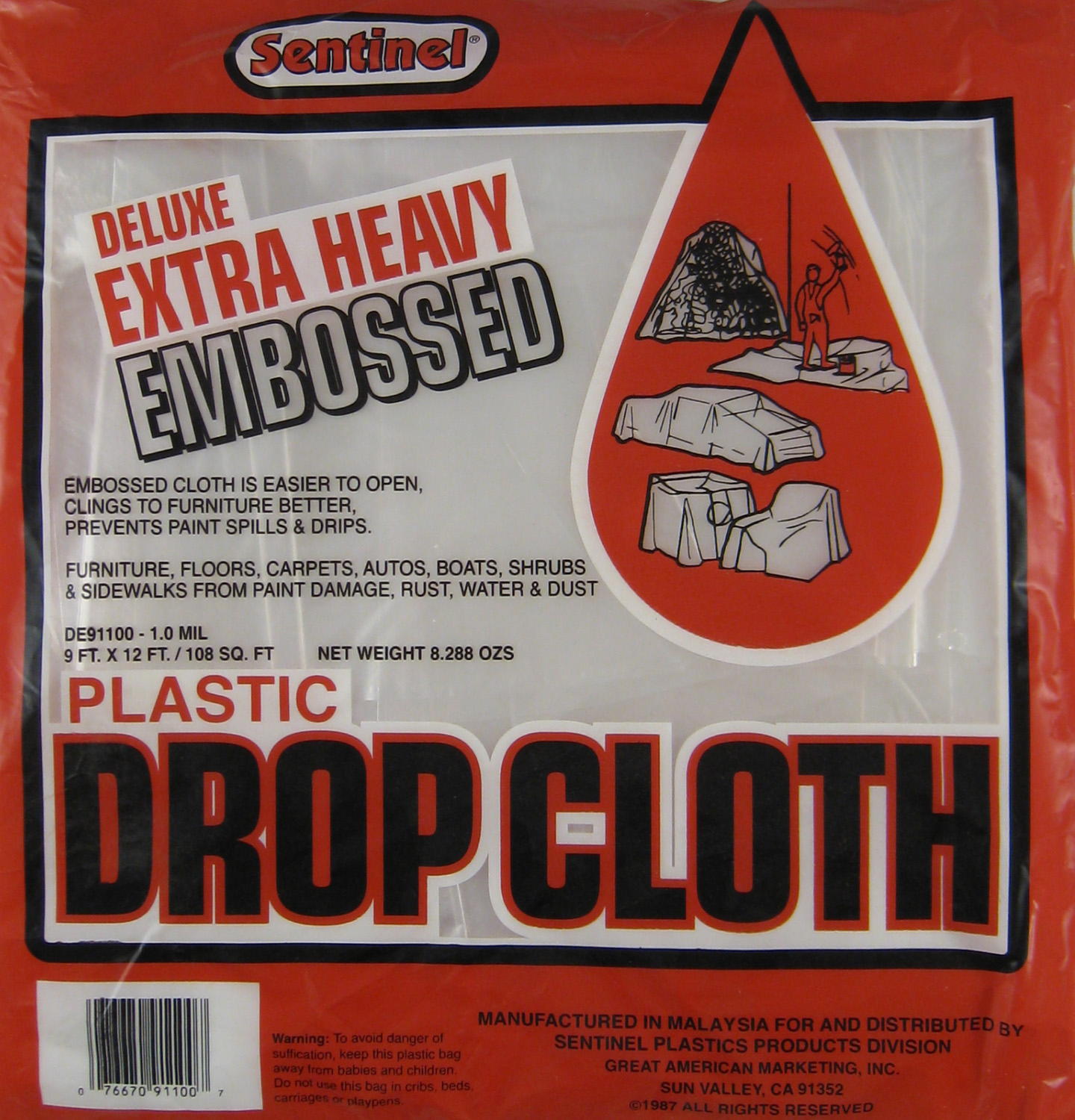 DROP CLOTH 9x12 1ML