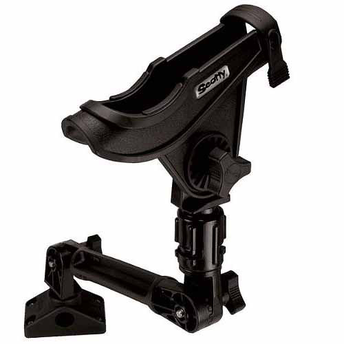 Scotty Baitcaster Rod Holder with #429 and #241L, Black by Scotty