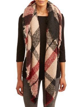 Twig & Arrow Women's Boucle Oversized Blanket Square Scarf