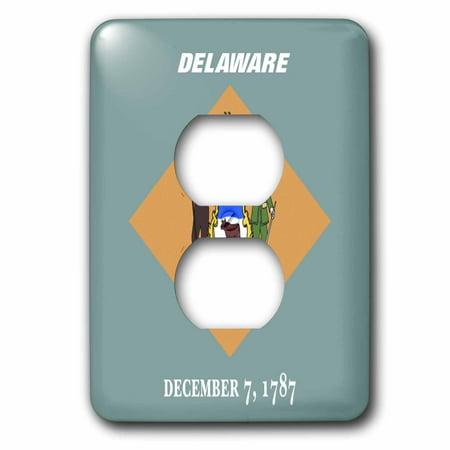 3dRose State Flag Of Delaware - 2 Plug Outlet Cover (lsp_45020_6) (Delaware Outlets)
