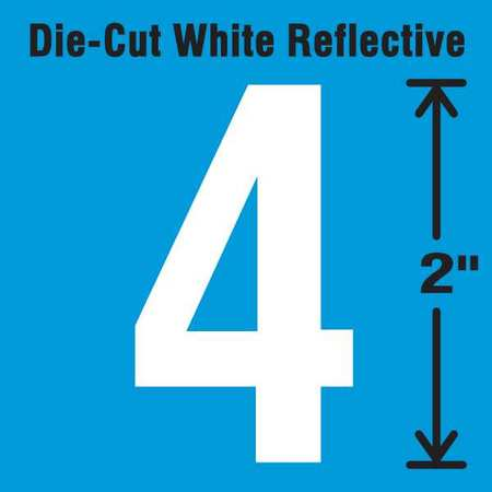 STRANCO INC DWR-2-4-5 Die-Cut Reflective Number Label