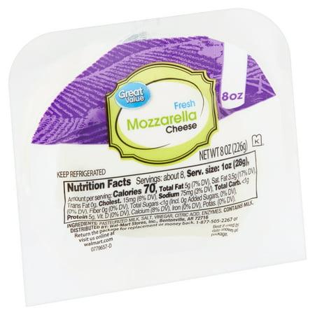 Great Value Fresh Mozzarella Cheese, 8 oz
