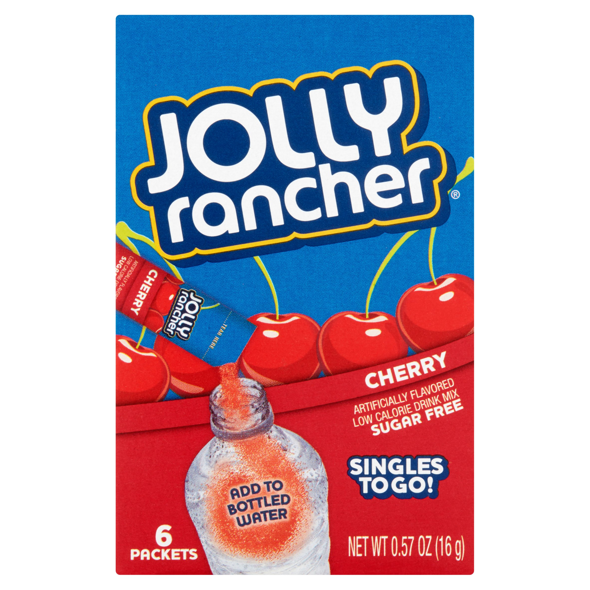 Jolly Rancher Cherry Freezer Pops, 1 Oz., 10 Count