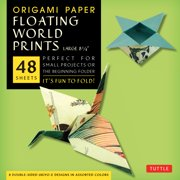 "Origami Paper - Floating World Prints - 8 1/4"" - 48 Sheets : Tuttle Origami Paper: High-Quality Large Origami Sheets Printed with 8 Different Designs: Instructions for 6 Projects Included"