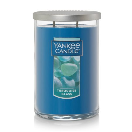 Yankee Candle Turquoise Glass - Large 2-Wick Tumbler Candle