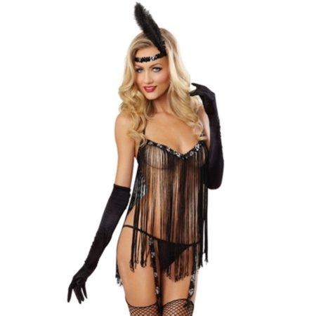 Dreamgirl Flirty Flapper Lingerie Costume 9773 - Lingerie Customs