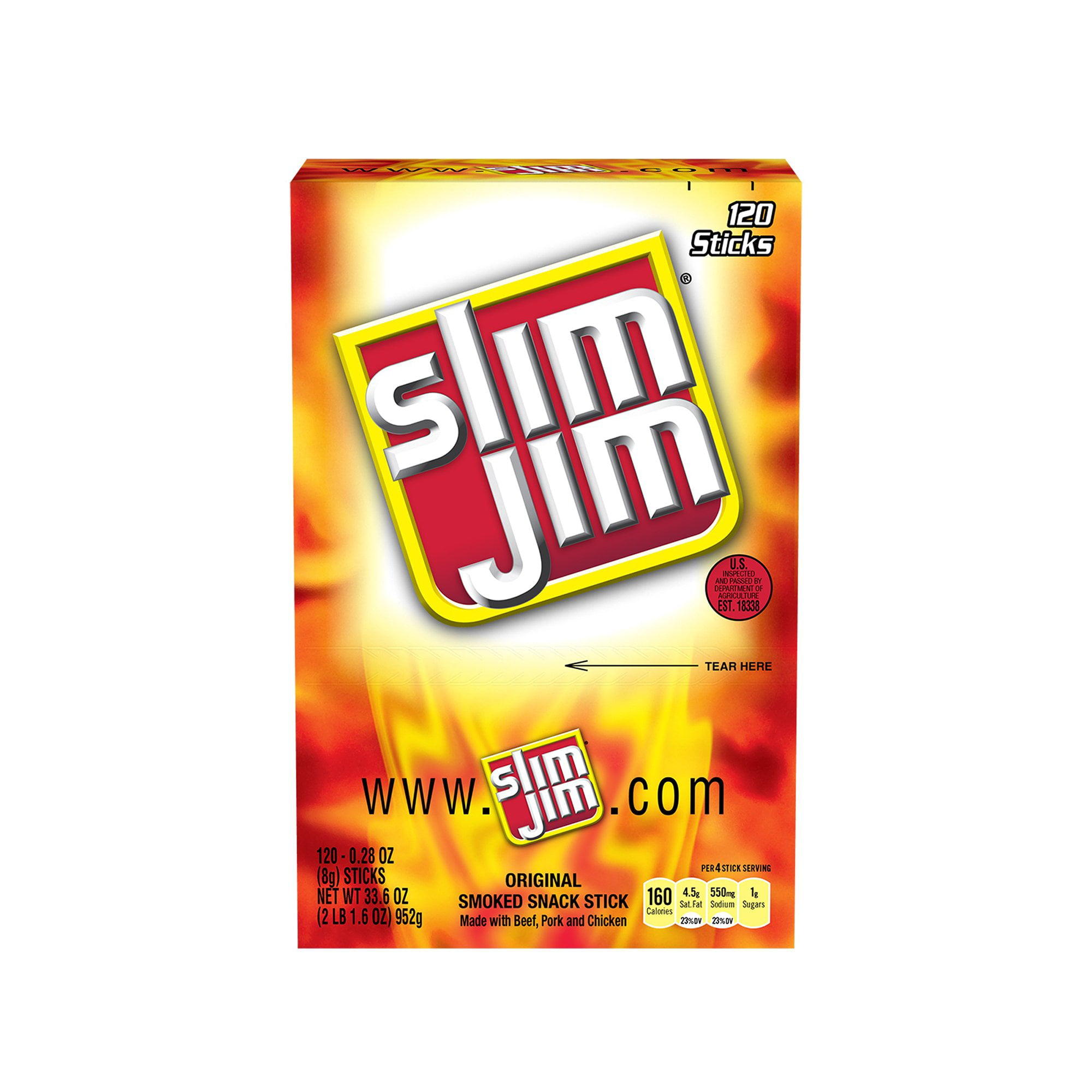 Branded Slim Jim Original (120 ct.) Pack of 1 [Qty Discount / wholesale price]