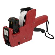Red Plastic Shell Hand Shopping Price Labeller Labeler Tag