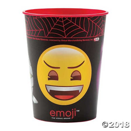 Emoji Halloween Plastic Tumbler - Halloween Transparents Tumblr
