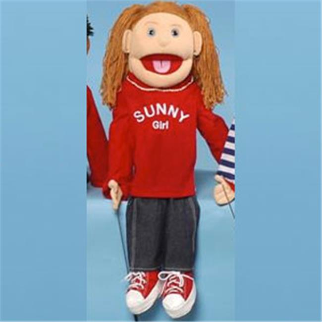 Sunny Co Toys Inc Brunette Yarn-Haired Girl with Pigtails Full Body Puppet by Sunny Co Toys Inc