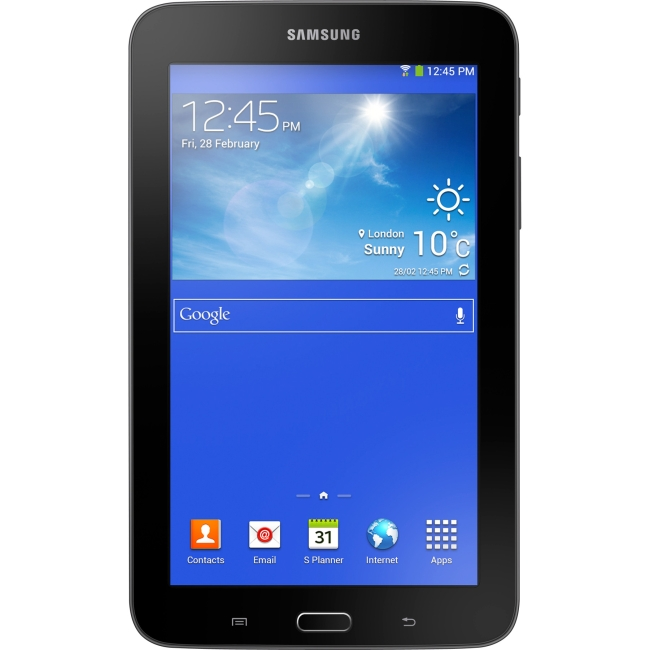 "Samsung SM-T110NYKAXAR Samsung Galaxy Tab 3 Lite SM-T110NYKAXAR 8 GB Tablet - 7"" - Wireless LAN - Dual-core (2 Core) 1.20 GHz - Black - 1 GB RAM - Android 4.1.2 Jelly Bean -"