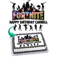 """Fortnite Battle Royale Edible Cake Image Topper Personalized Picture 1/4 Sheet (8""""x10.5"""")"""
