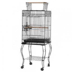 "57"" Parrot Bird Canary Parakeet Cockatiel LoveBird Finch Bird Cage with Wood Perches & Stainless Steel Cup Food Cups"